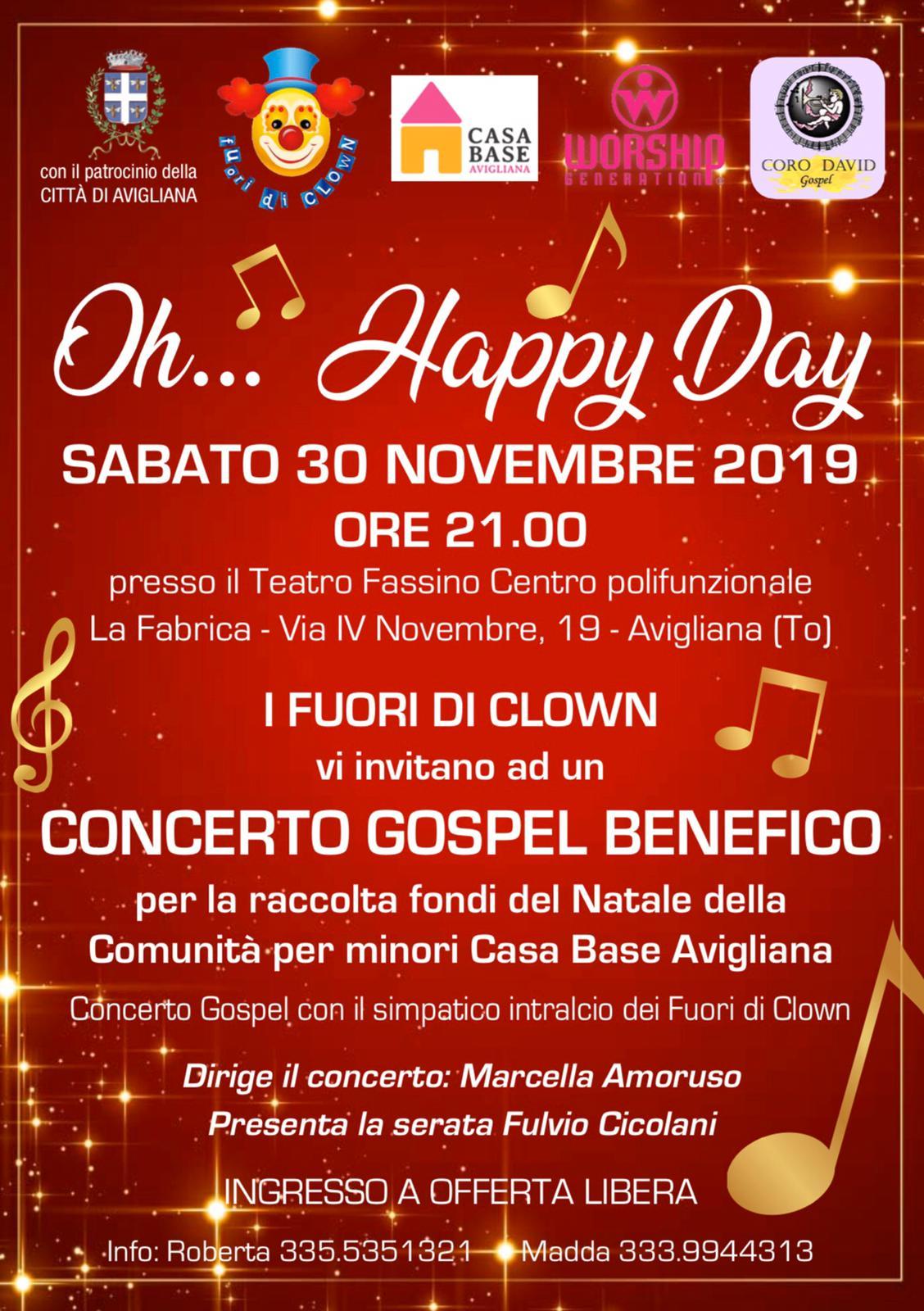Volantino Oh Happy day - Casa Base Avigliana