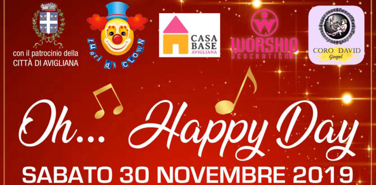 "30 novembre | Un ""Happy Day"" per Casa Base Avigliana"